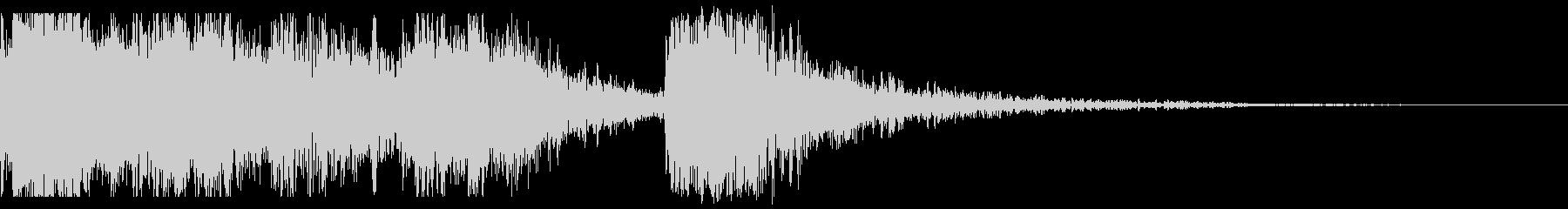 和+オーケストのインパクトのあるジングルの未再生の波形