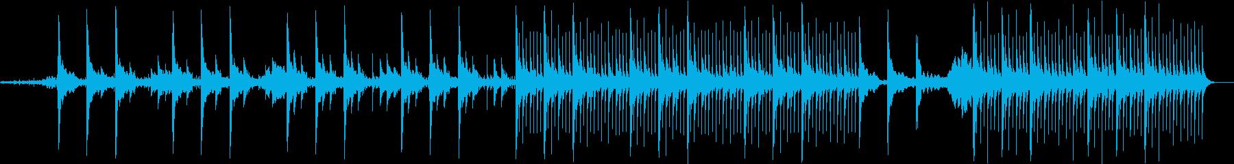 フィルムのノイズにキレイなオルゴールの再生済みの波形