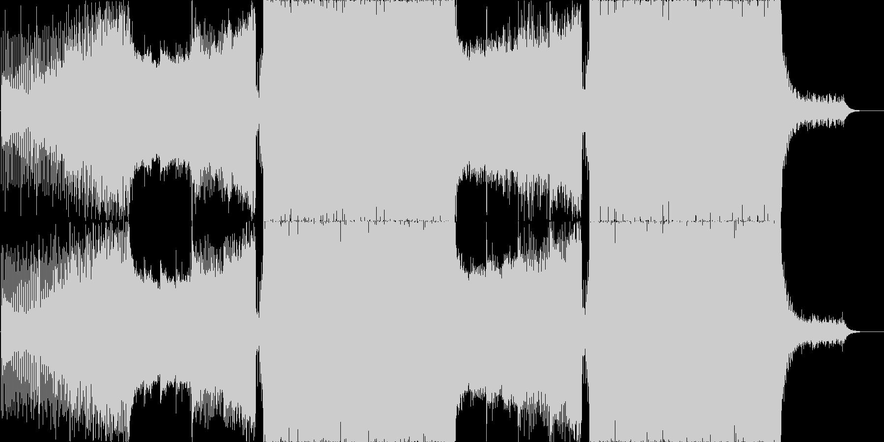 透明感のある和風プログレッシブハウスの未再生の波形