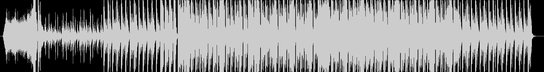 未来的なテクスチャー楽曲の未再生の波形