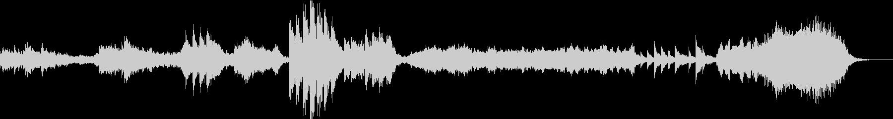 美しく幻想的モンタージュやCM向けBGMの未再生の波形