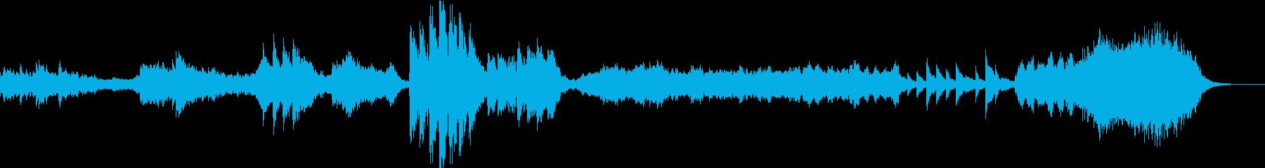 美しく幻想的モンタージュやCM向けBGMの再生済みの波形