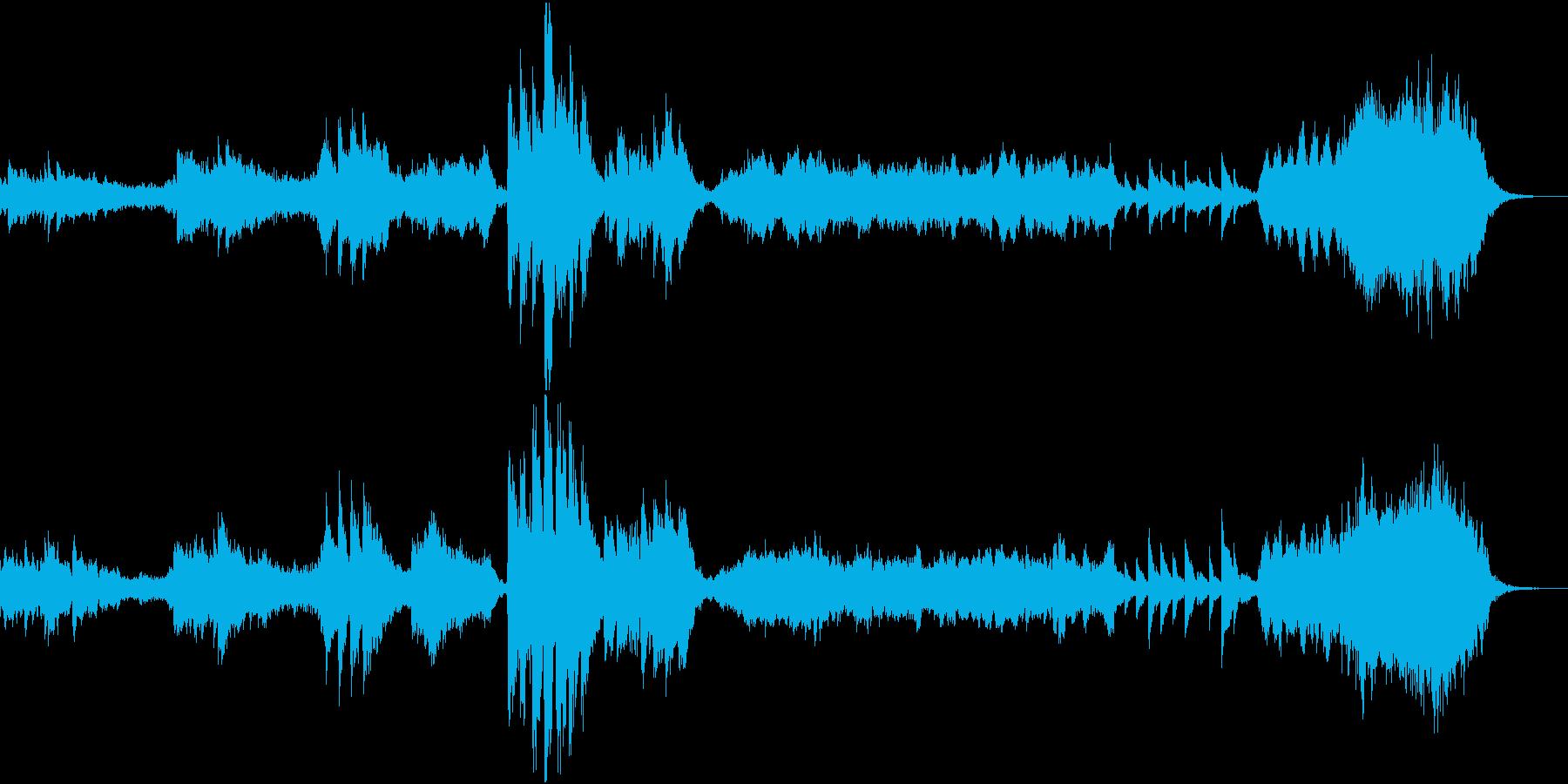 幻想的で美しいモンタージュ向けBGMの再生済みの波形