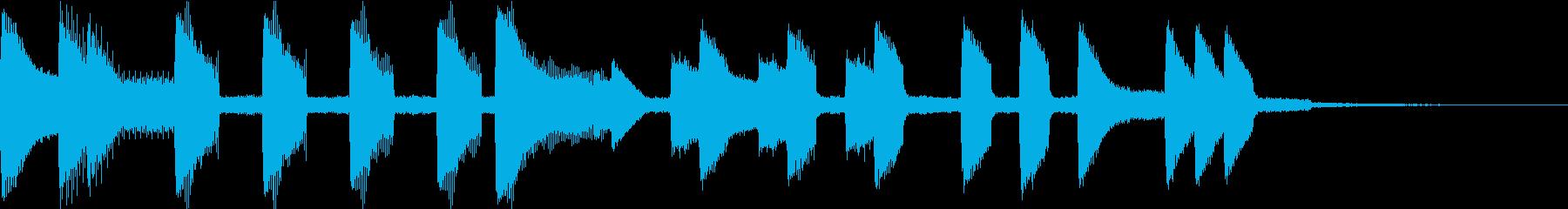 カジュアルめの残念ゲームオーバーの再生済みの波形
