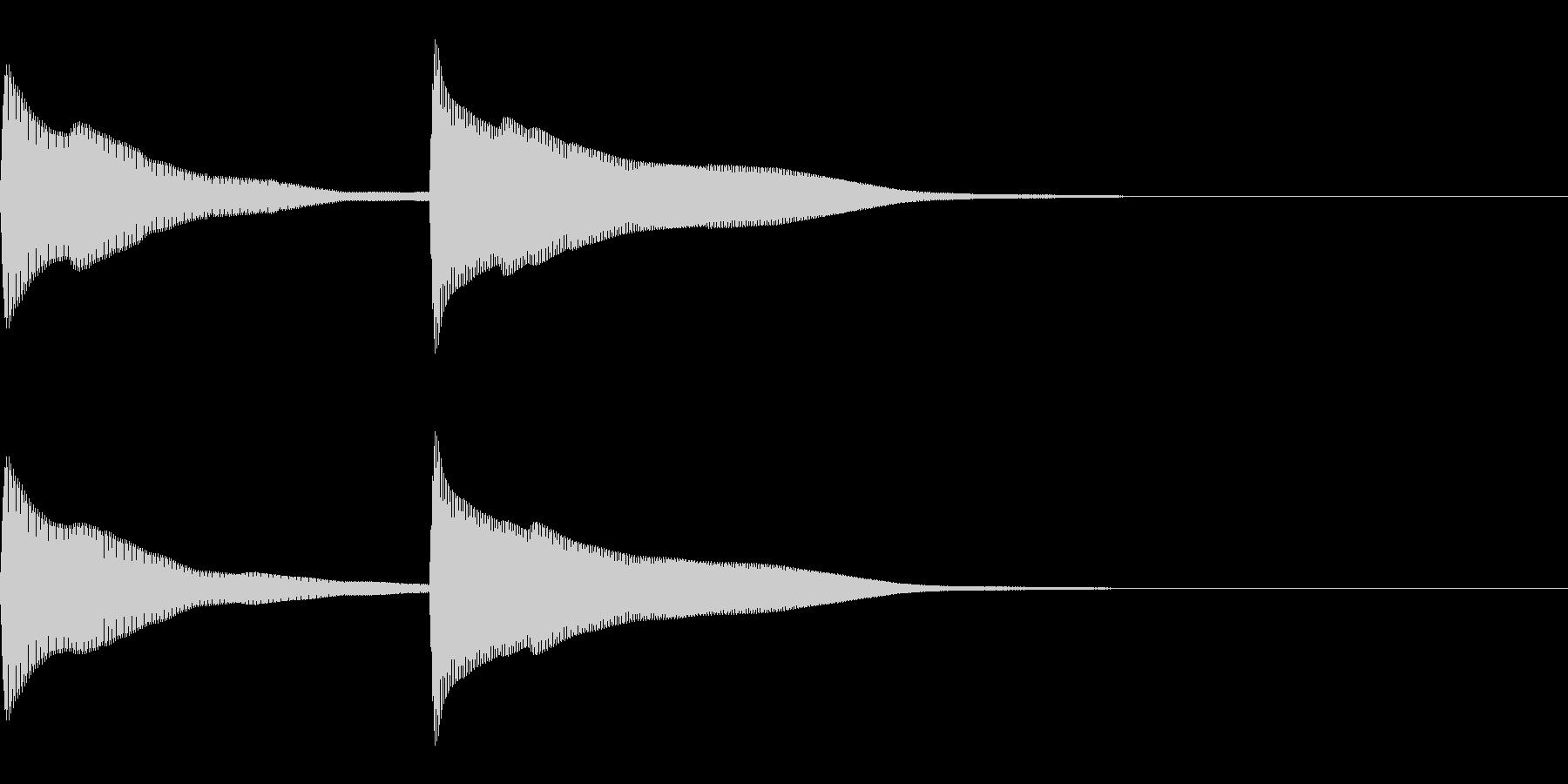 正解 1C 控え目な音 ピンポーンの未再生の波形