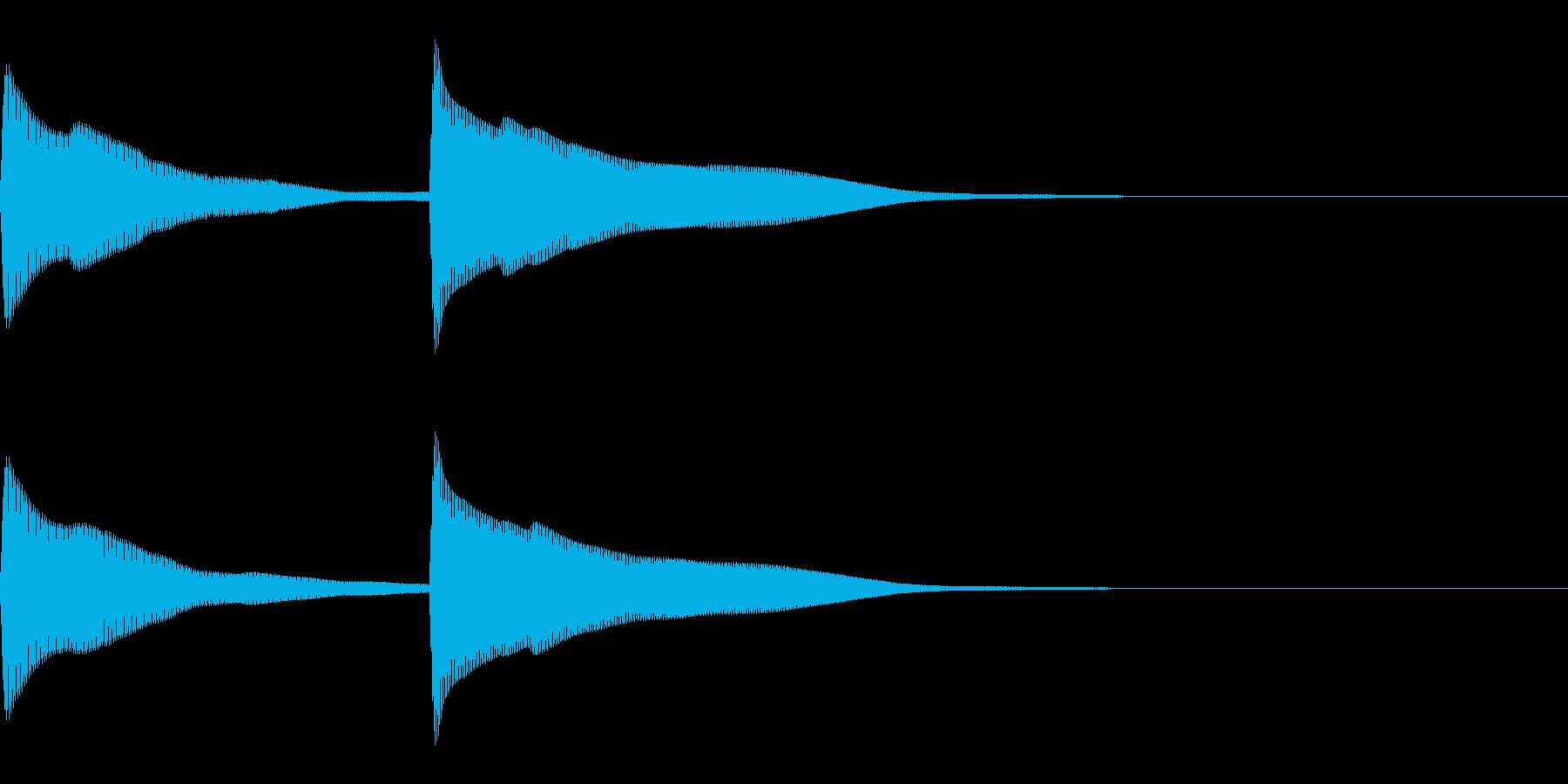 正解 1C 控え目な音 ピンポーンの再生済みの波形