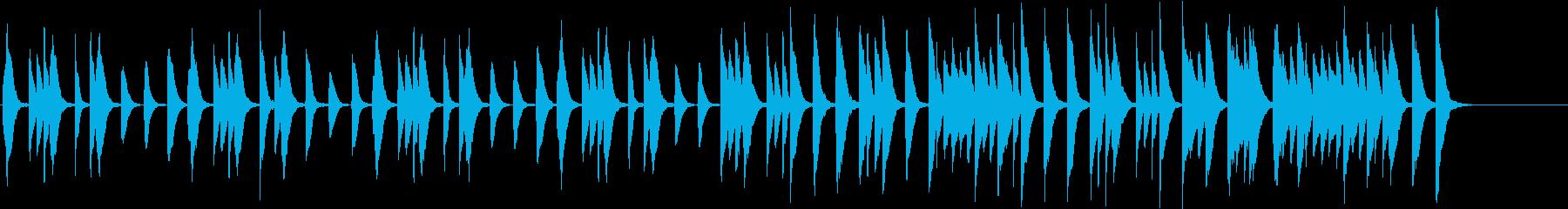 ほんわかカワイイ子供/動物場面ピアノソロの再生済みの波形