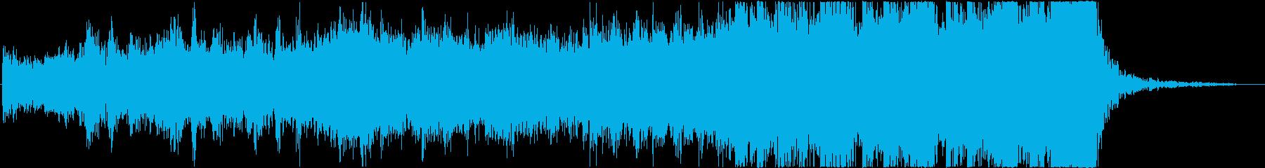 戦場へ向かう勇敢な兵士のシンセ&オケ曲の再生済みの波形