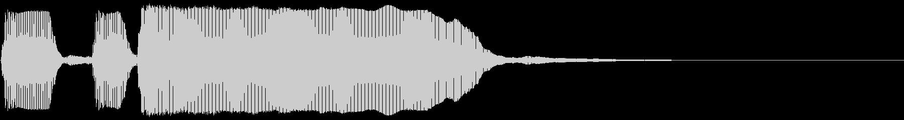 トランペット/テッテレーの未再生の波形