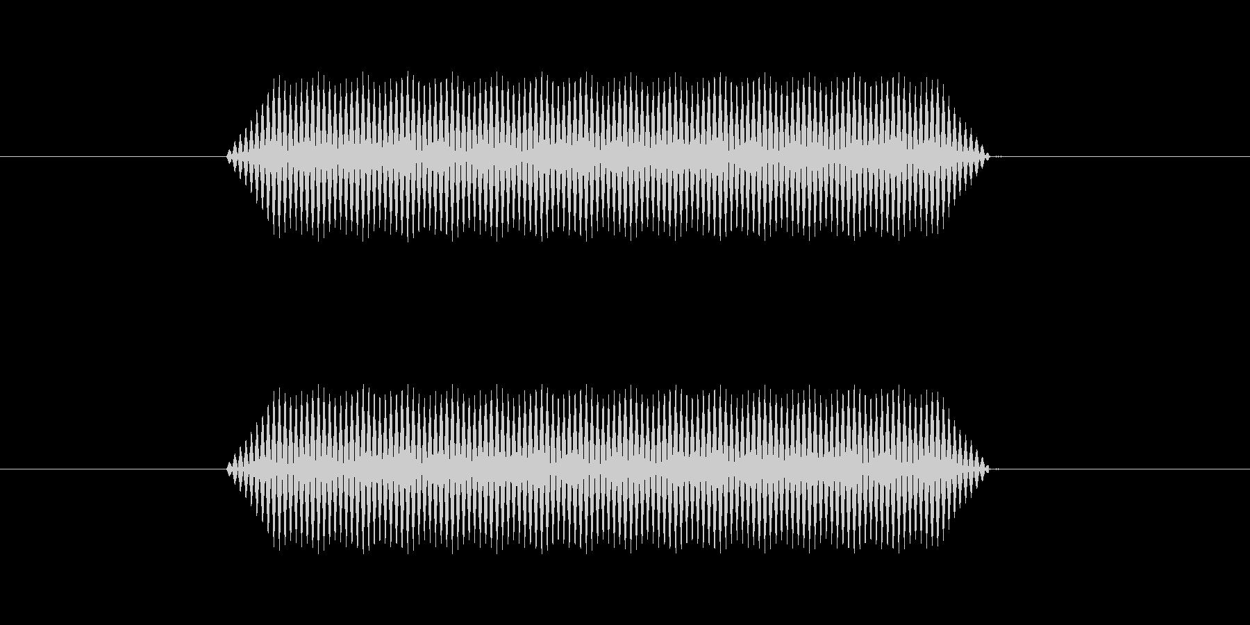 【汎用・セリフ音等】ピッ(さらに低)の未再生の波形