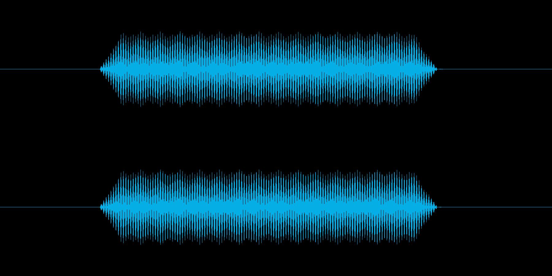 【汎用・セリフ音等】ピッ(さらに低)の再生済みの波形