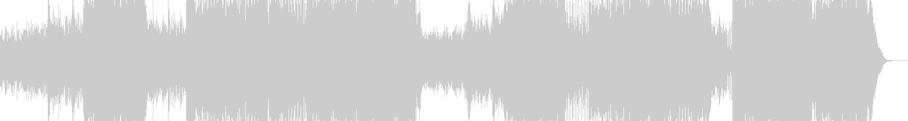 ピアノ・大空を翔けるテーマ 長尺+の未再生の波形