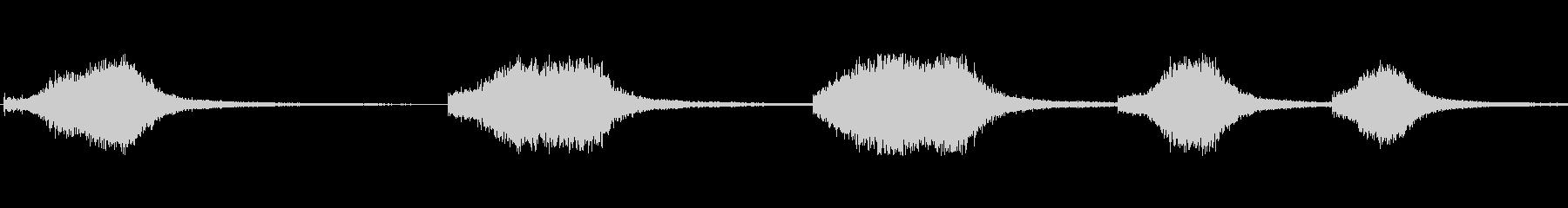 ヒューシュフランジエアーマルチプルhの未再生の波形