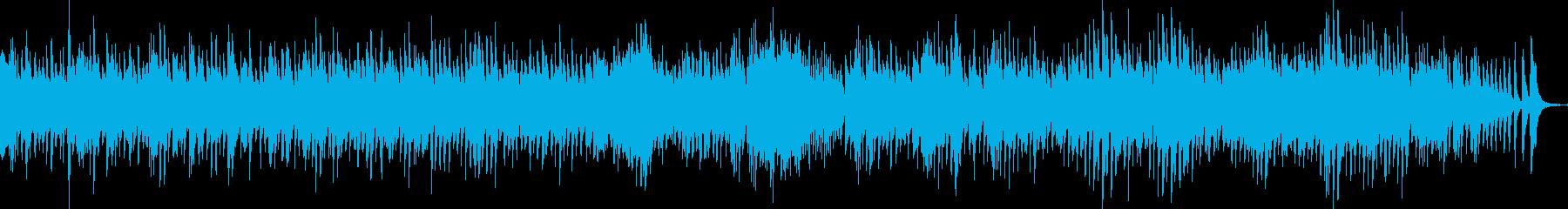 ハープメインの静かな小オーケストラの再生済みの波形