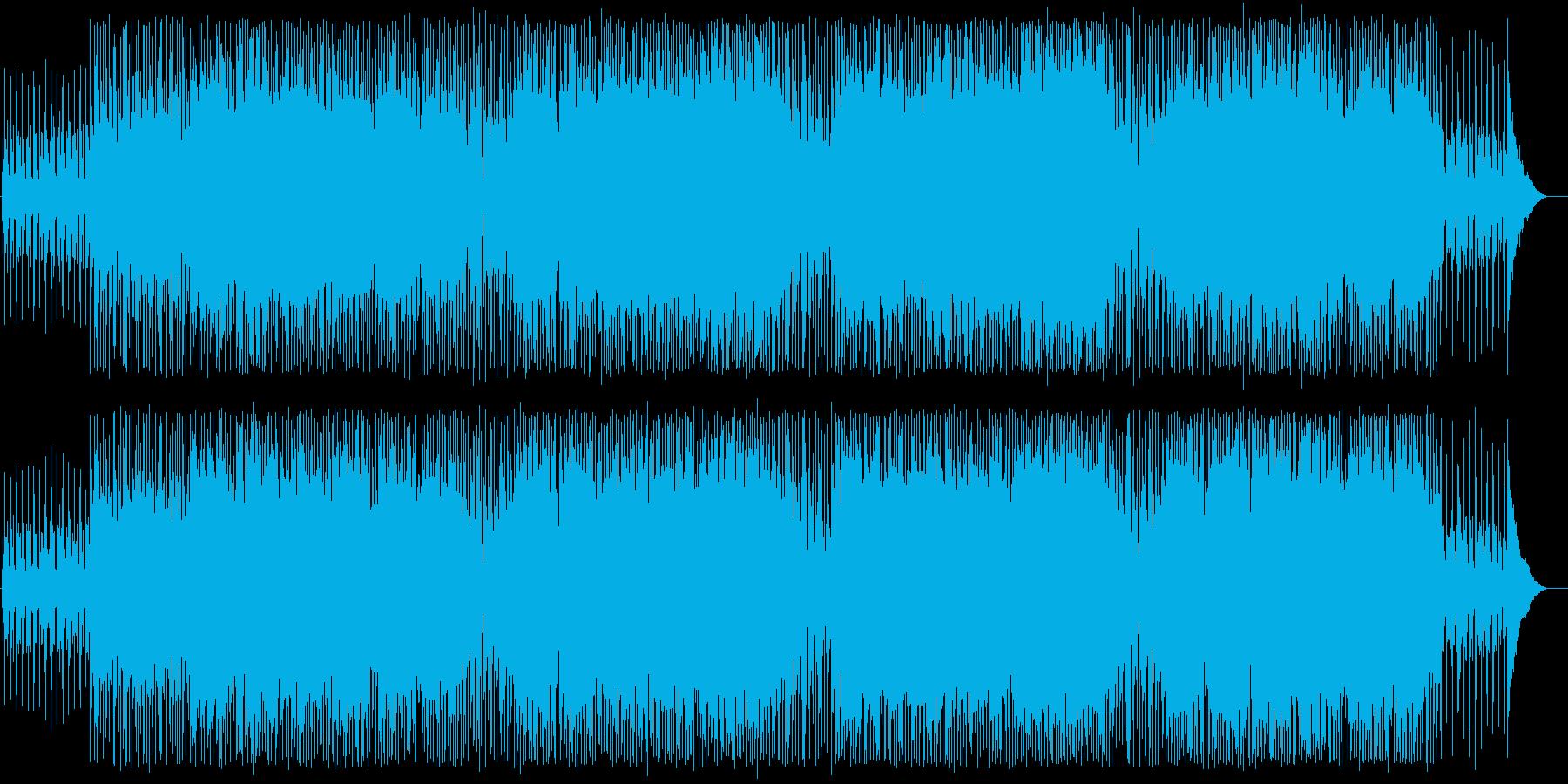 80年代の軽快なアメリカンロック曲の再生済みの波形