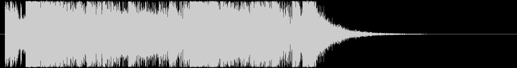 シンセをメインにしたEDM風ジングル11の未再生の波形