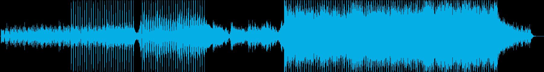 物語が動き出した...!的な四つ打ちの曲の再生済みの波形