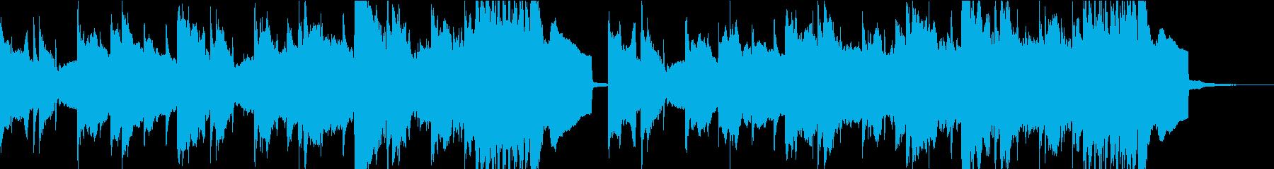 前向きなメロディのポップロックの再生済みの波形