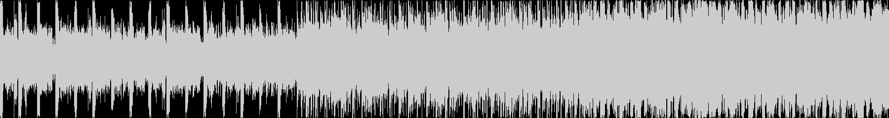 ダークで激しいデジタルロックの未再生の波形