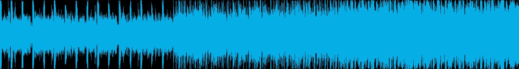 ダークで激しいデジタルロックの再生済みの波形