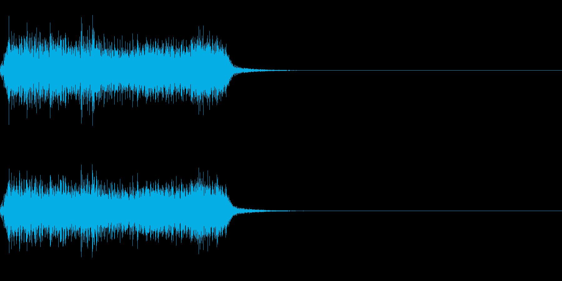 スパーク音-25の再生済みの波形