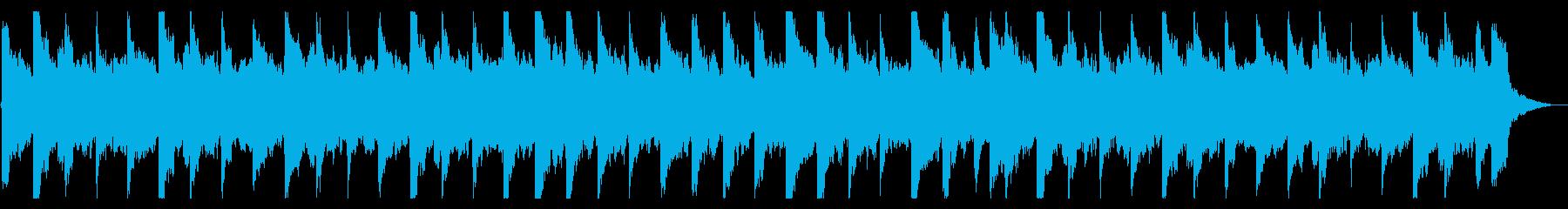 悲しい旋律のピアノとバイオリンの再生済みの波形