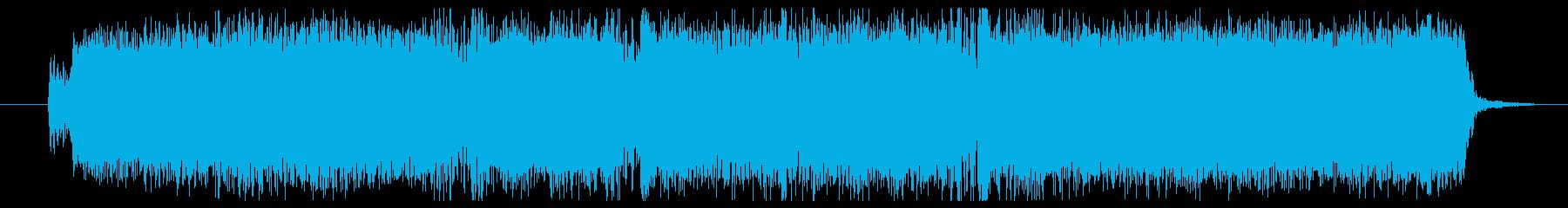 重低音のメタルギタージングルの再生済みの波形