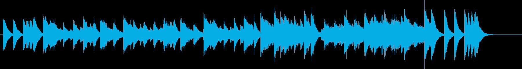 アップテンポでハッピーな冬ピアノジングルの再生済みの波形