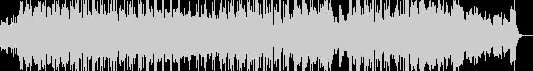 過激で近未来的なテックトランスの未再生の波形