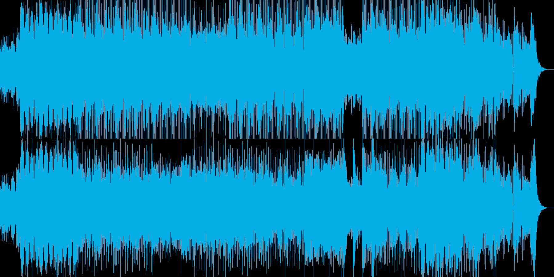 過激で近未来的なテックトランスの再生済みの波形