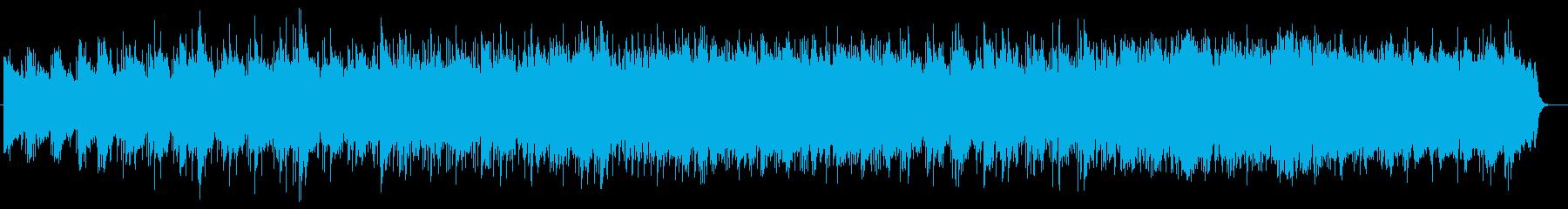 きれいで静かなシンセサイザーのポップスの再生済みの波形