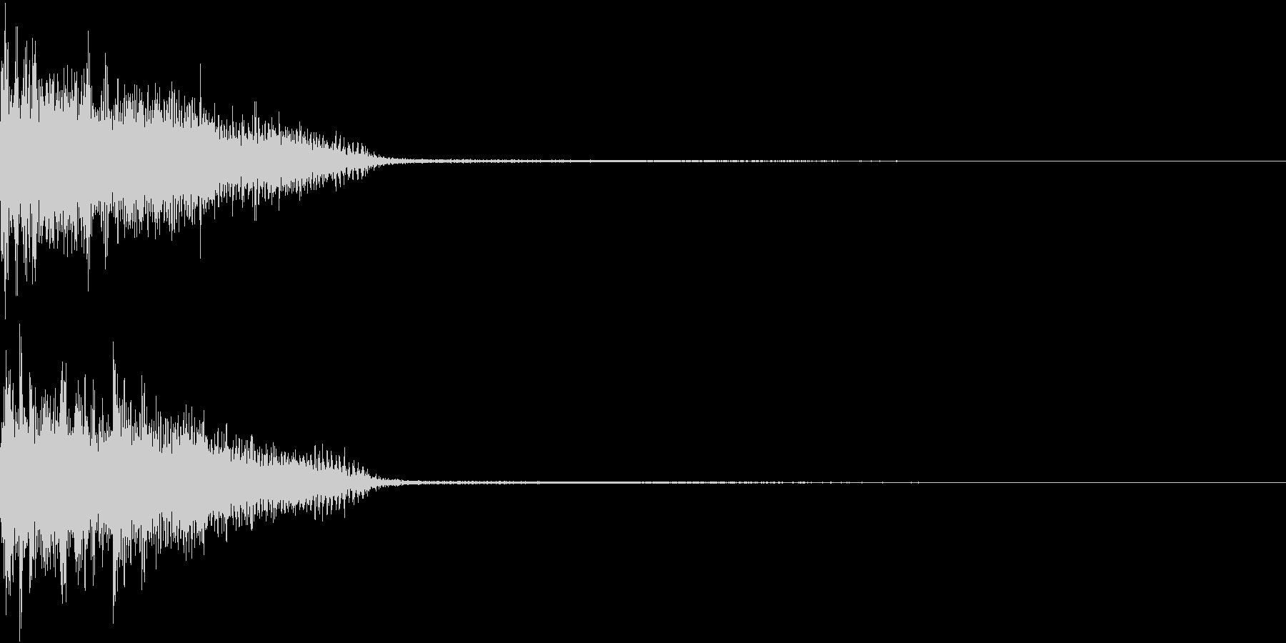 InvaderBuzz 発砲音 8の未再生の波形
