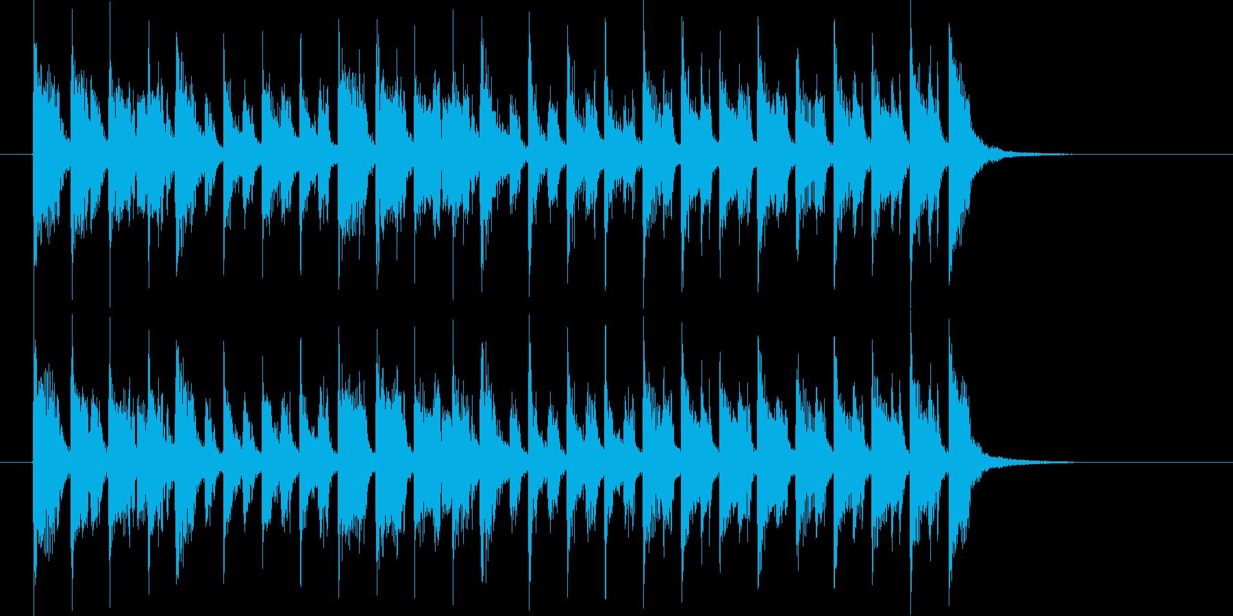 リズミカルで期待感のある短めの楽曲の再生済みの波形