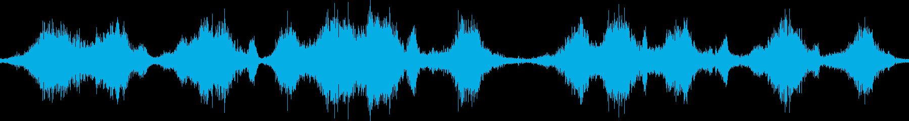 魔法の弾を次々にかわす(風切り音)の再生済みの波形