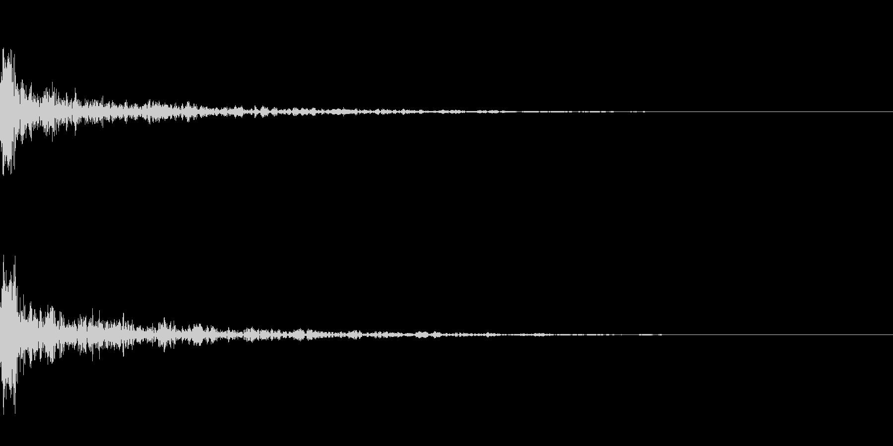 ドーン-15-1(インパクト音)の未再生の波形
