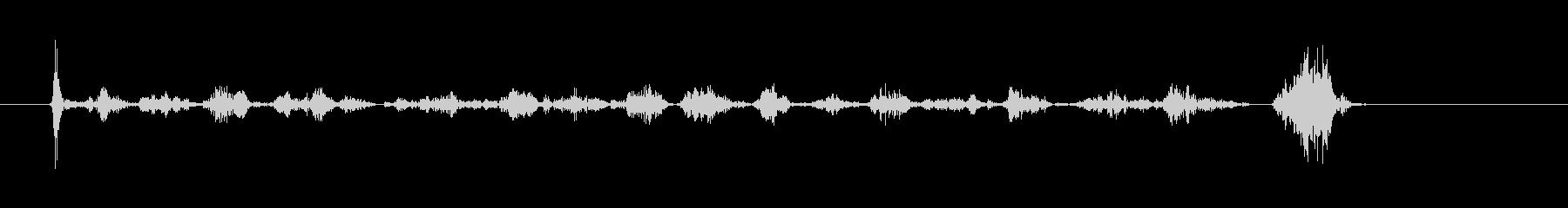 サインを書く音(ボールペン)BLの未再生の波形