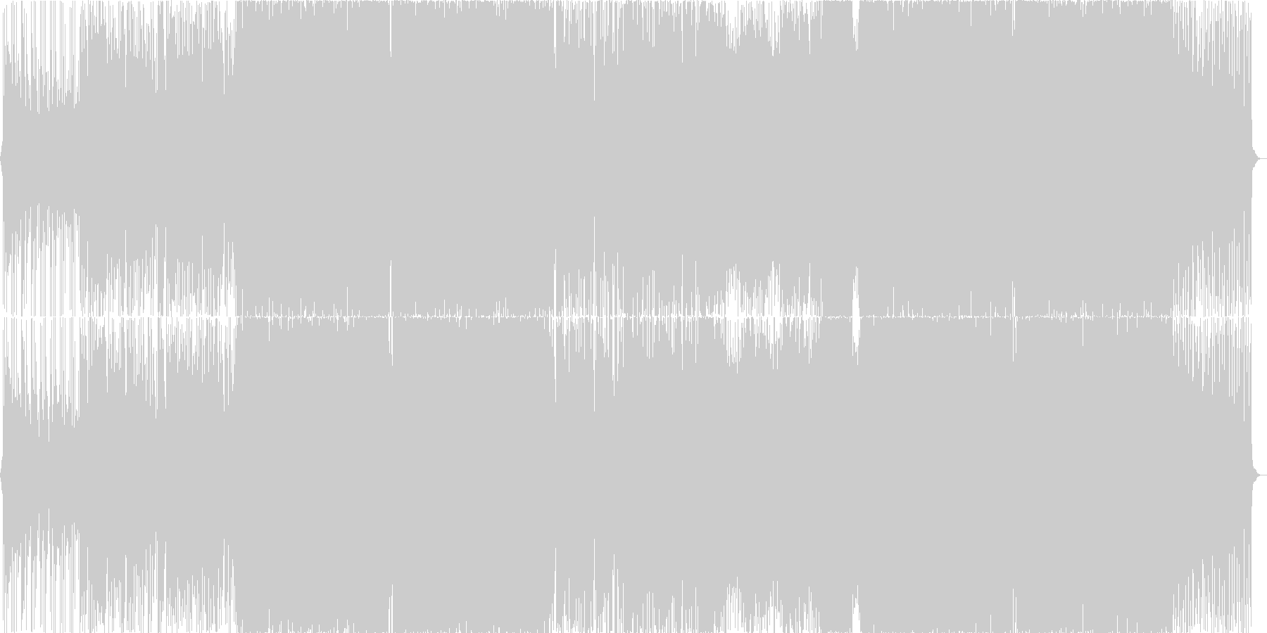 キラキラ、ポップ女性ボーカルのエレクトロの未再生の波形