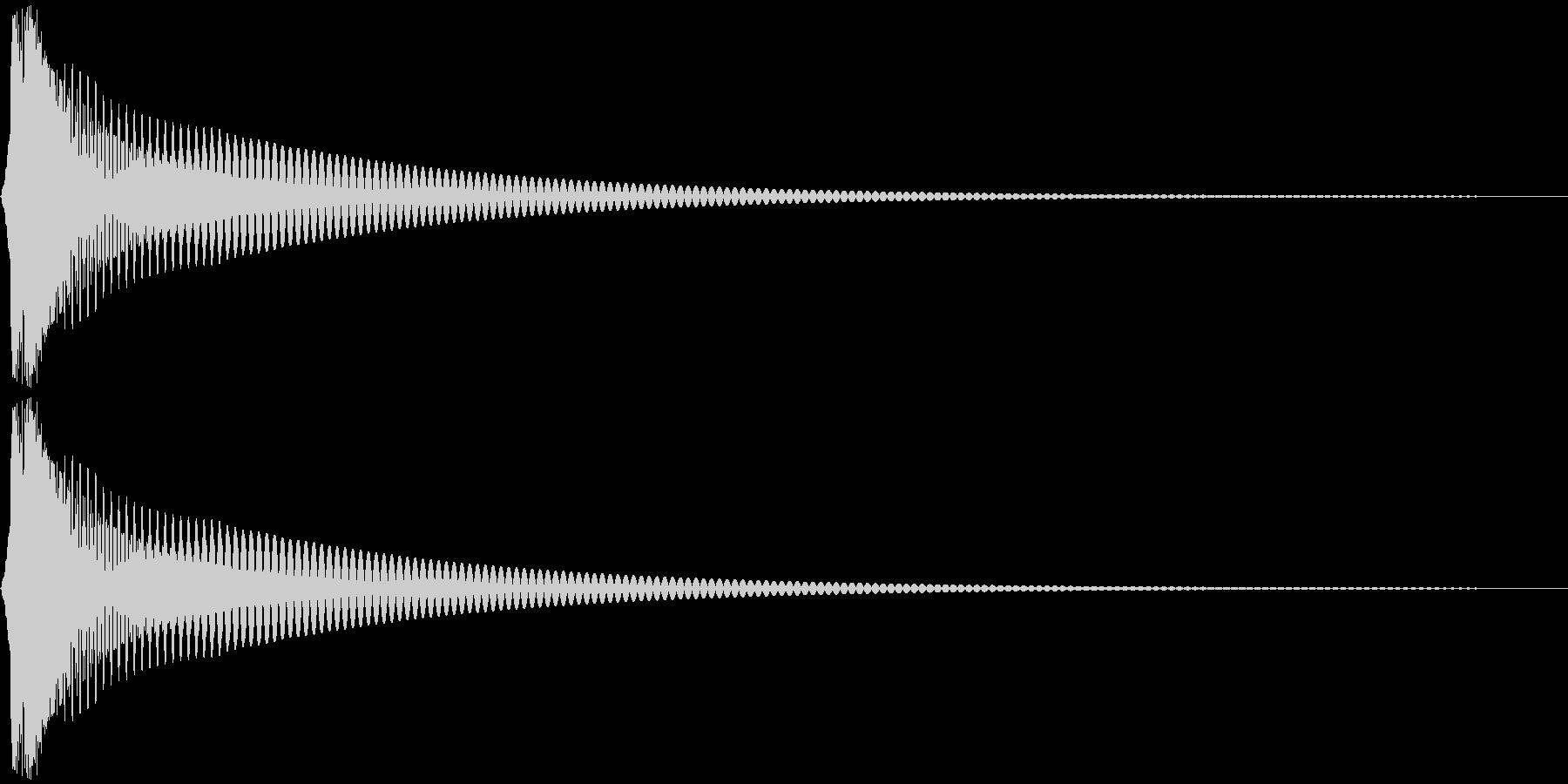 Cap フタ・栓を開ける音 1の未再生の波形