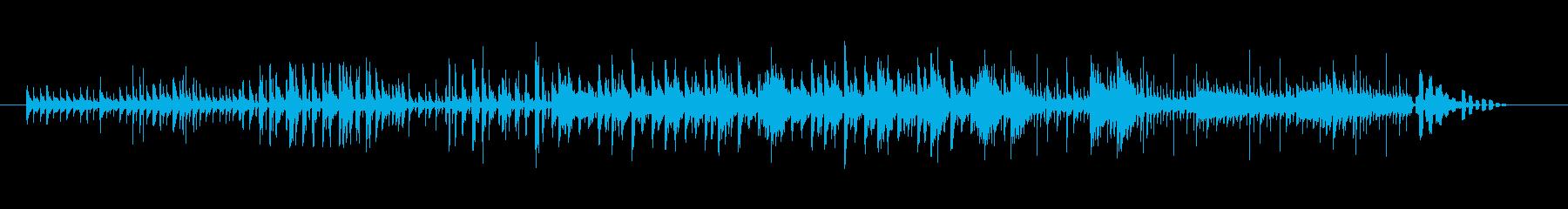 ダークでハイテクな雰囲気のメロディーの再生済みの波形