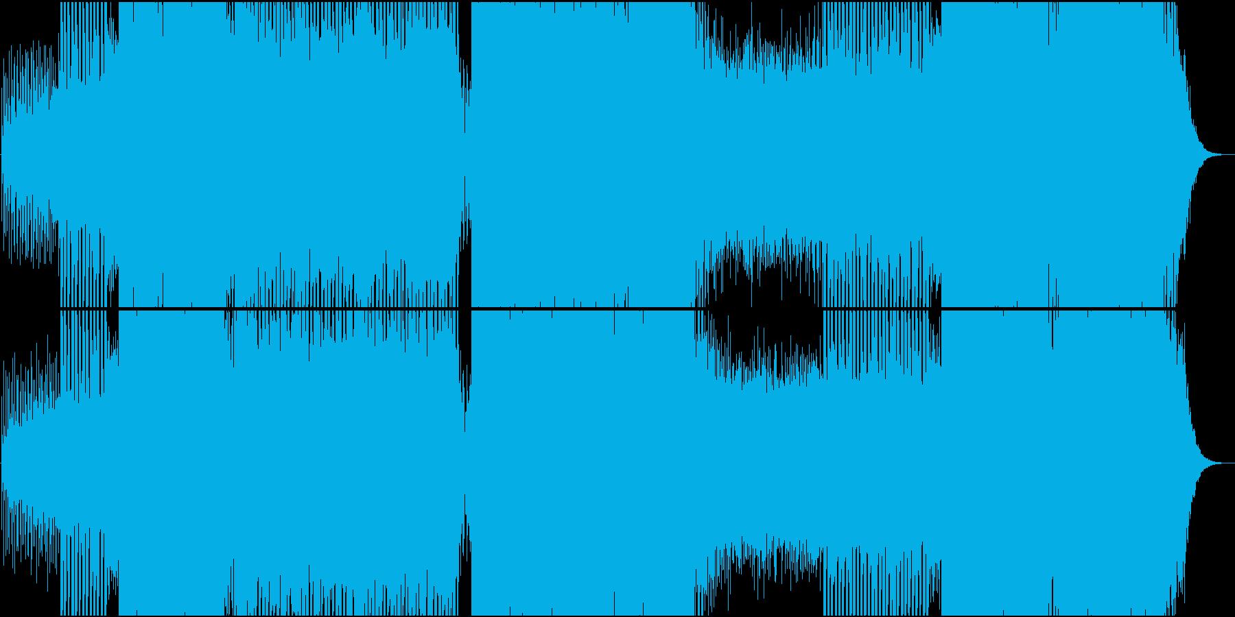 EDM映像用トランス系静かで爽やかな楽曲の再生済みの波形
