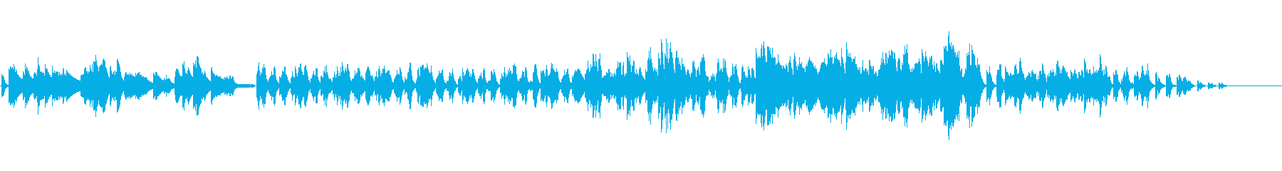 情熱的|ドラマチック|かっこいいピアノ曲の再生済みの波形