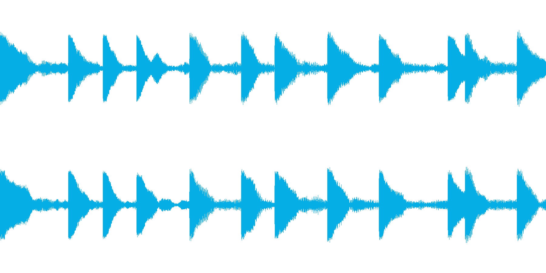 EDM PluckLoop2 音楽制作用の再生済みの波形