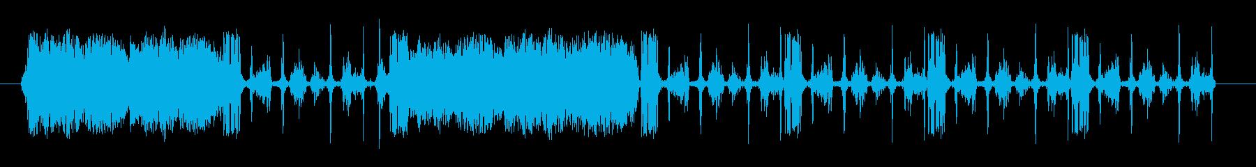 断続的な連絡先の再生済みの波形