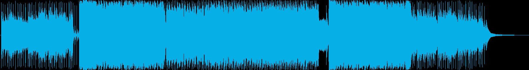 爽やかでポップなハウスサウンドの再生済みの波形