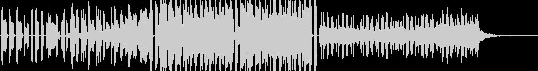 CM,エンディング用エレクトロの未再生の波形