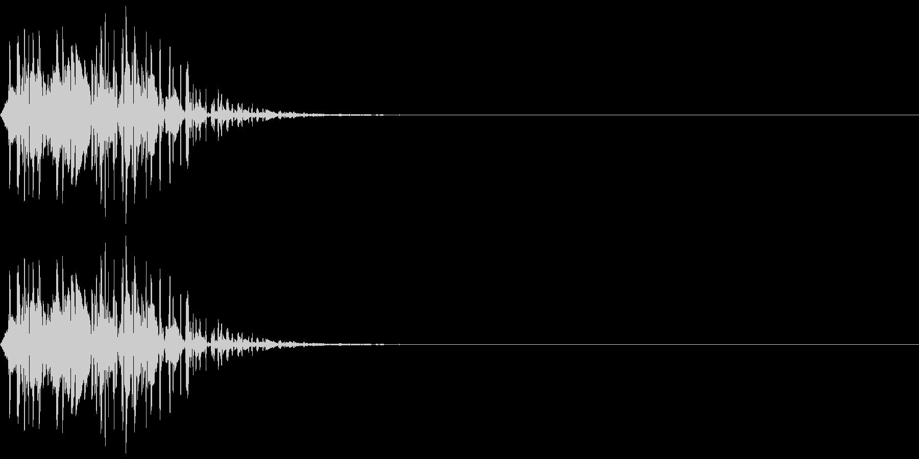 打撃音(マイナス_低音_ダメージ)の未再生の波形