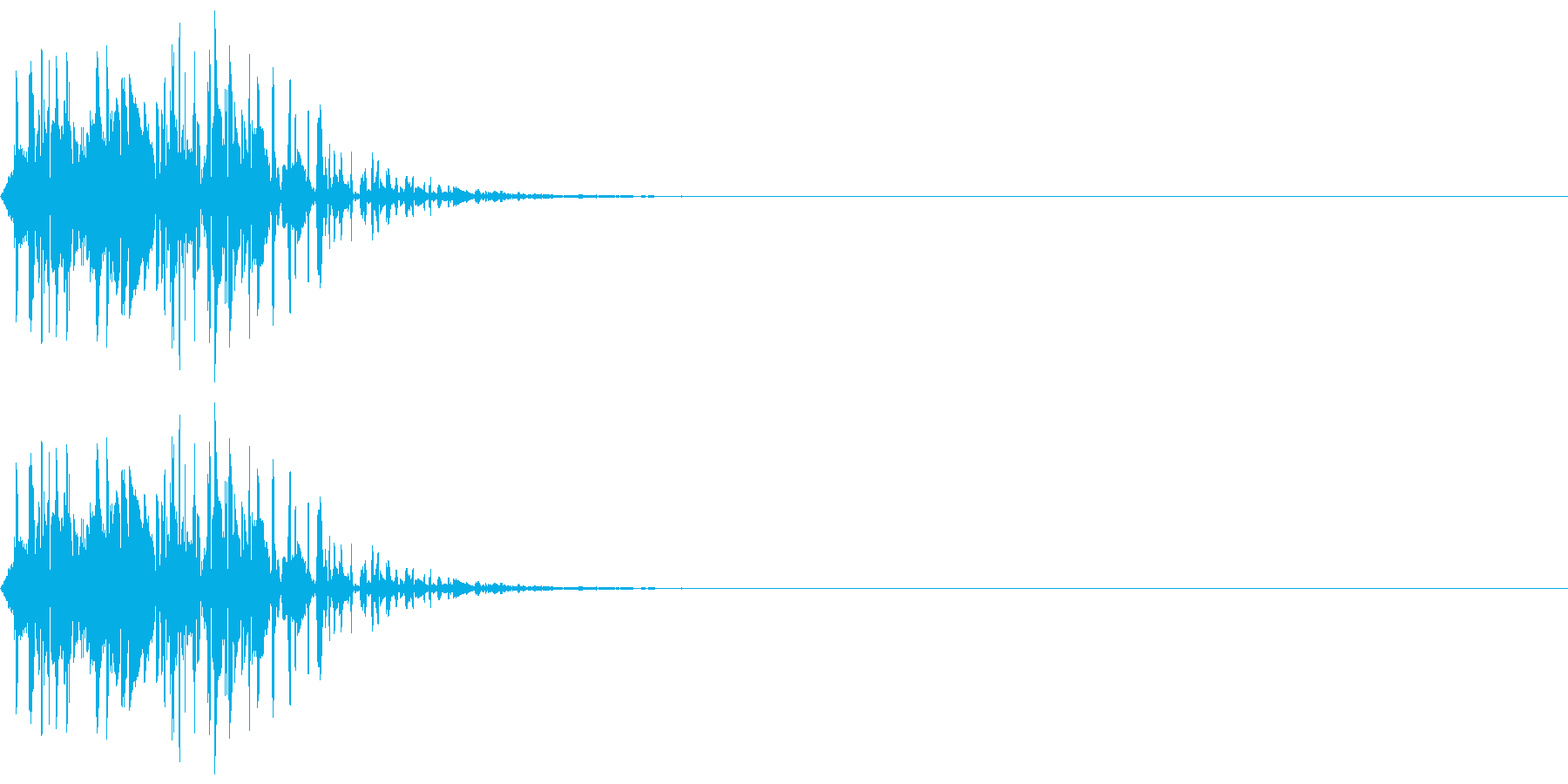 打撃音(マイナス_低音_ダメージ)の再生済みの波形
