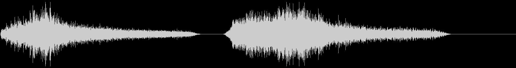 メタルドラムスティックX2の未再生の波形