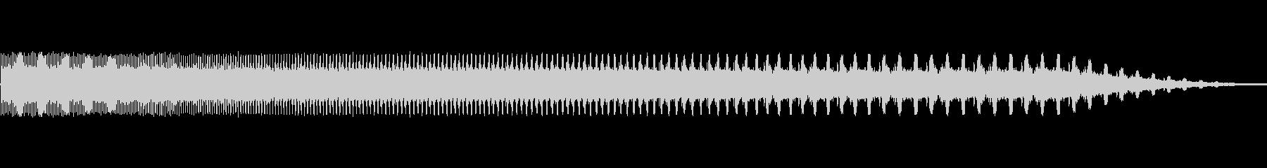 ビープ音が鳴り、速度bが変化しますの未再生の波形