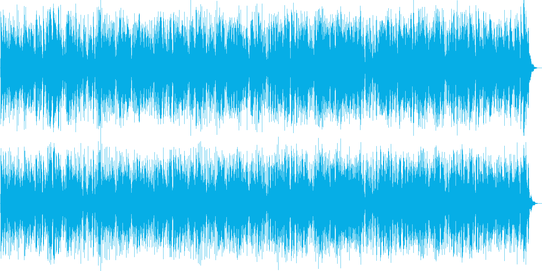 イルミネーションの光景、クールジャズの再生済みの波形